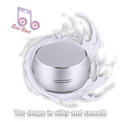 bluetooth speaker clear voice woofer connect to phones memory card #Bass Band silvery one size