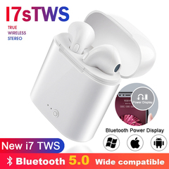 i7s Bluetooth earphones wireless headphones Bluetooth ear with Charging Box For Samsung Huawei phone white