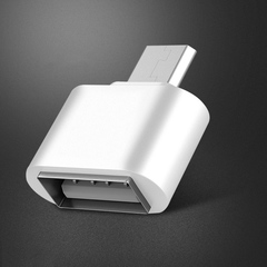 Mini OTG Adapter Micro USB to USB Converter for samsung/Huawei Android phones PC white normal