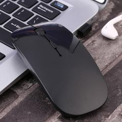 USB Optical Wireless Mouse Super Slim Computer Mouse Game mouse wireless Mice For PC Laptop black Wireless