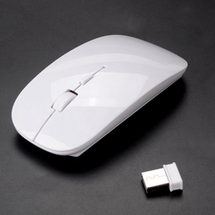 USB Optical Wireless Mouse 2.4G Receiver Super Slim Mouse For PC Laptop white Wireless