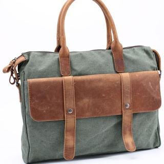 3a5ba5c2b7 Messenger Shoulder Bag Simple retro men s business bags canvas messenger  bag handbag Army Green 14inch