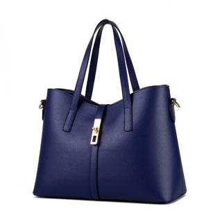 Handbags Women's Sweet fashion simple elegant high quality classic multicolor all-match shoulder bag Navy Blue 10inch