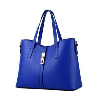 Handbags Women's Sweet fashion simple elegant high quality classic multicolor all-match shoulder bag Blue 10inch