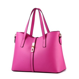 Handbags Women's Sweet fashion simple elegant high quality classic multicolor all-match shoulder bag Light red 10inch