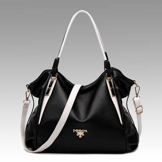Hotsale Ladies handbags fashionable handbags simple elegant nobel style classic design shoulder bag Black-white one size