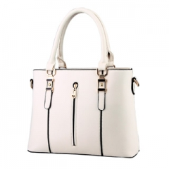 The new trend of noble fashion shoulder bag classic design simple elegant ladies handbag multicolor White one size