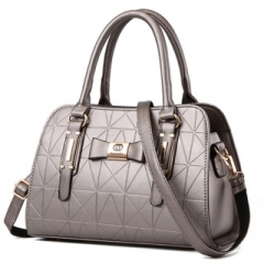 Noble and elegant multicolors classic crossbody bag business casual all-match ladies handbag Grey Model
