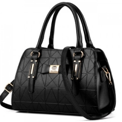 Noble and elegant multicolors classic crossbody bag business casual all-match ladies handbag black Model