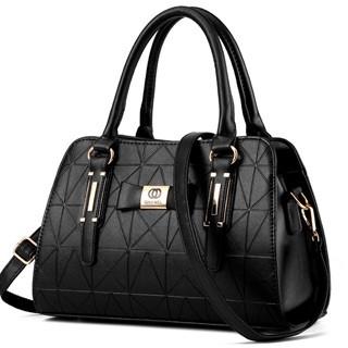 Noble and elegant multicolors classic crossbody bag business casual all-match ladies handbag black Model