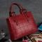The new classical atmosphere elegant full-featured ladies handbag simple elegant high-capacity Claret Model