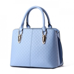New embossed ladies handbag multicolors elegant and refined high quality noble simple style Blue Model
