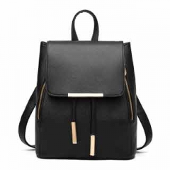 Summer all-match fresh and elegant and refined ice-cream color Sweet and pleasant ladies Backpack Black model