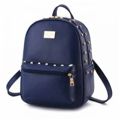 Ms. backpack functional high capacity color fresh and bright all-match fashionable women's backpack Blue model