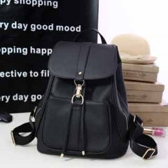 Fashionable Simple and elegant large capacity Backpack Classic all-match multi-color schoolbag sweet Black model