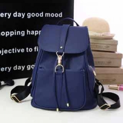 Fashionable Simple and elegant large capacity Backpack Classic all-match multi-color schoolbag sweet Blue model