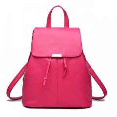 Fashion Simple and elegant multifuction multicolor Backpack Classic all-match schoolbag for women Pink model