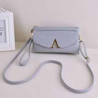 Fashionable Simple and elegant  handbag Classic all-match women's cross-body bag sweet party Grey Model