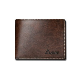 2016 Vintage men short wallet cross section Student Wallet PU simple personality soft leather Brown One Size