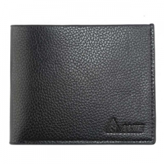 Man short purse leather cross Cowhide Leather Wallet Mens youth men's wallet Black One Size