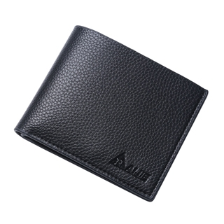 Men short leather wallet genuine leather bag wallet cross business men Black One Size