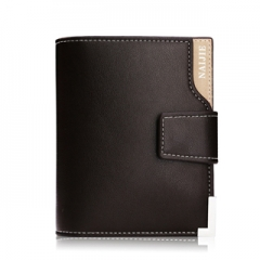 Men's short paragraph Wallet  business casual leather vertical paragraph hand bag youth Wallet Brown One Size