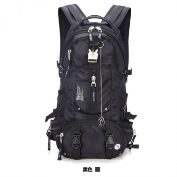 Large capacity and multi function mountaineering bag waterproof and abrasion resistant backpack Black One size