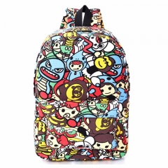 Hippie Canvas Backpacks Student School Bag Cartoon Print Rucksack Travel Pack Laptop Graffiti explosion letters one size