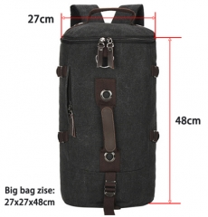 Large capacity man travel bag mountaineering backpack men bags canvas bucket shoulder bag black large