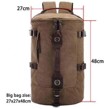 Large capacity man travel bag mountaineering backpack men bags canvas bucket shoulder bag coffee large