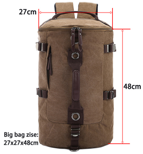 Large capacity man travel bag mountaineering backpack men bags canvas bucket shoulder bag coffee large