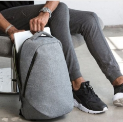"Backpack Men Unisex Light Slim Minimalist Fashion Backpack Women 14"" 15"" Laptop Backpack school bag grey 15 inch"