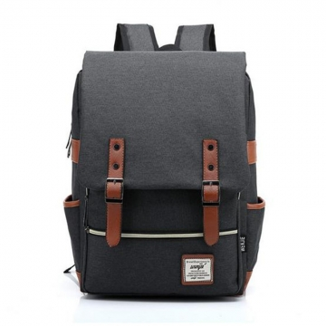 Fashion Men Daily Canvas Backpacks for Laptop Large Capacity Computer Bag Casual  School Bagpacks black one size