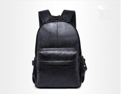 2017 Korean Style Men Backpack Top Quality Leather Double Shoulder Bags School Bag Book Rucksack men brown one size