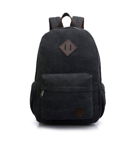 Canvas Men's Backpack School Casual Travel Vintage Style Rucksack Shoulder Bags Laptop Multifunction black one size