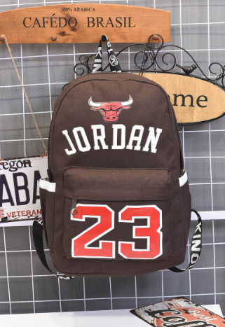 Hot Men Women World Famous Star Backpacks High Quality Canvas Schoolbags for Teenager brown one size