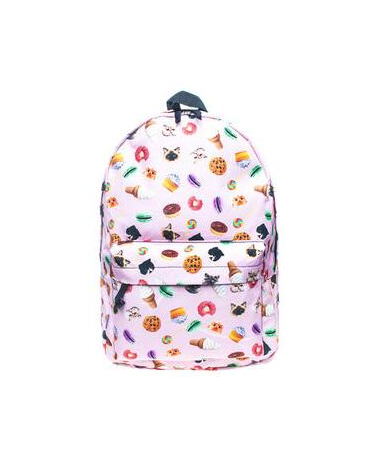 Fashion 3D printing mochila backpack women bag mochilas mujer school laptop backpacks schoolbag pink food one size