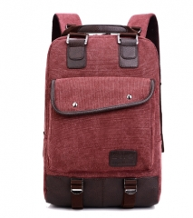 2017 New Fashion Women and Men Backpack Unisex Canvas Backpacks Laptop Backpack Travel School Bag brown one size