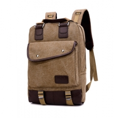 New Fashion Women and Men Backpack Unisex Canvas Backpacks Laptop Backpack Travel School Bag brown one size