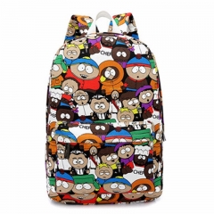Hippie Canvas Backpacks Student School Bag Cartoon Print Rucksack Travel Pack Laptop Graffiti bald people one size