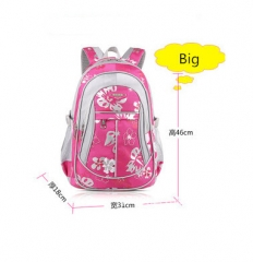 New School Bags for Girls Brand Women Backpack Cheap Shoulder Bag Fashion rose big one size
