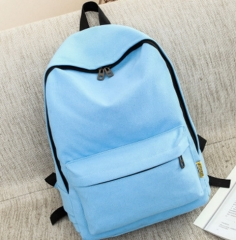 Small Canvas Backpack For Women Men Student Back to School bag For Teenager Boy Girl Children blue one size