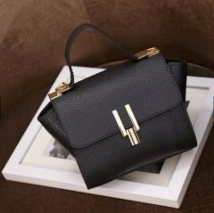 PU leather handbags women s vintage Shoulder bags Black one size