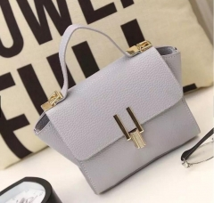 PU leather handbags women s vintage Shoulder bags gray one size