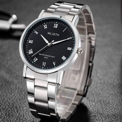 Newest Hot Sales Brand WLISTH Men Gifts Luminous Watch  High Quality Stainless Steel Wristwatch black one size