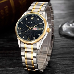 Men Watch Male Clock Top Brand Luxury Famous Quartz Wrist Watches Men Steel Quartz-Watch black one size