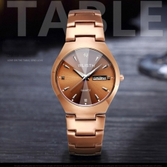 Lovers Brown Watch Men Women Date Quartz Wrist Watches Top Brand Luxury Female Male Clock gold for men one size