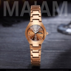Lovers Brown Watch Men Women Date Quartz Wrist Watches Top Brand Luxury Female Male Clock gold for women one size