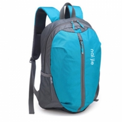 Backpack Lightweight durable large capacity waterproof men and women Travel Bag blue one size
