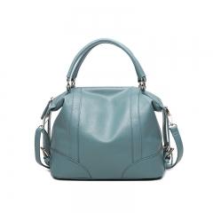 Women's HandbagsLeather Candy Shoulder Bags Ladies Totes Simple Trapeze Women Messenger Bag light blue one size